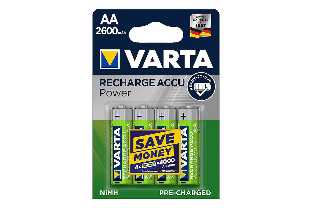 Image of Varta Recharge Accu Power Batterien AA/LR6 2600mAh 4 St.