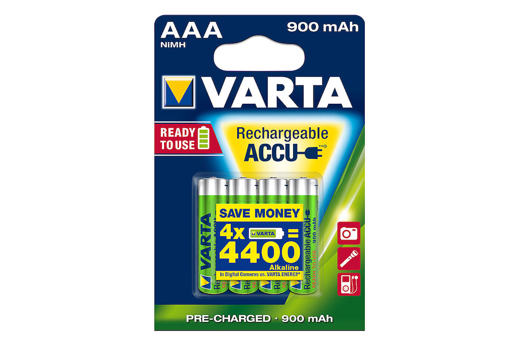 VARTA Power Akku AAA/LR3 900mAh 4Pc