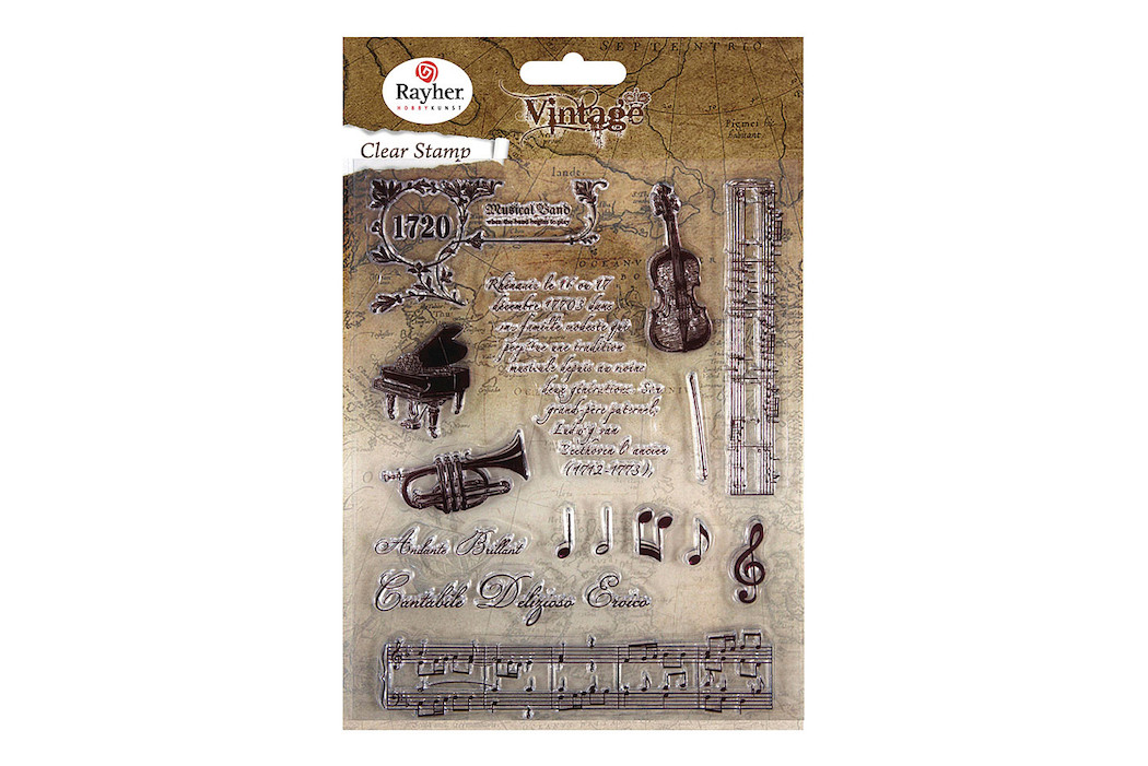 Image of Clear Stamps - Vintage Musik