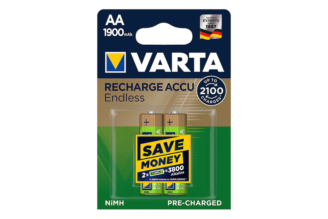 Image of Varta Recharge Accu Endless Batterien AA/LR6 1900mAh 2 St.
