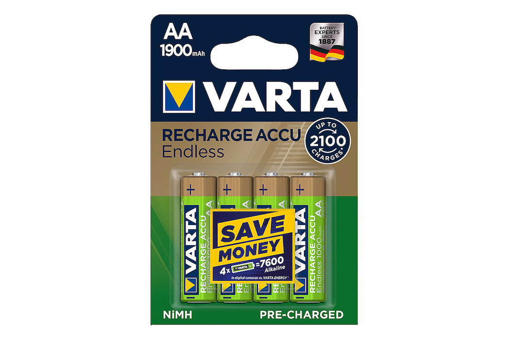 Image of Varta Recharge Accu Endless Batterien AA/LR6 1900mAh 4 St.