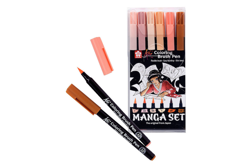 Image of MANGA KOI COLOR BRUSH SET 6
