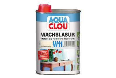 clou aqua wachslasur w11 weiss 250ml kaufen bei coop bau hobby. Black Bedroom Furniture Sets. Home Design Ideas