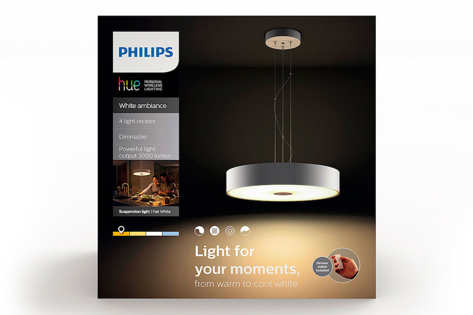 Philips Hue Fair Pendel 3000lm weiss